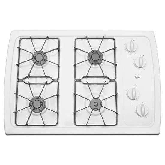 Whirlpool 30-inch Gas Cooktop with 5,000 BTU AccuSimmer® Burner