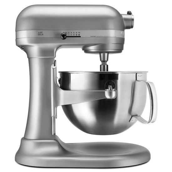 The KitchenAid KSMPSWH White Stand Mixer is incredibly versatile and more than a mixer. With all the available attachments, you can use it to make homemade pasta, stuff fresh sausage, whip up ice cream, and give fruit a squeeze.