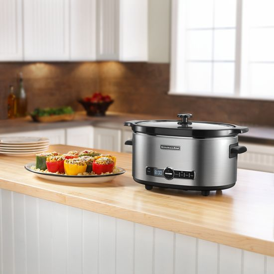 KitchenAid-6-Quart-Slow-Cooker-with-Solid-Glass-Lid-KSC6223SS thumbnail 2