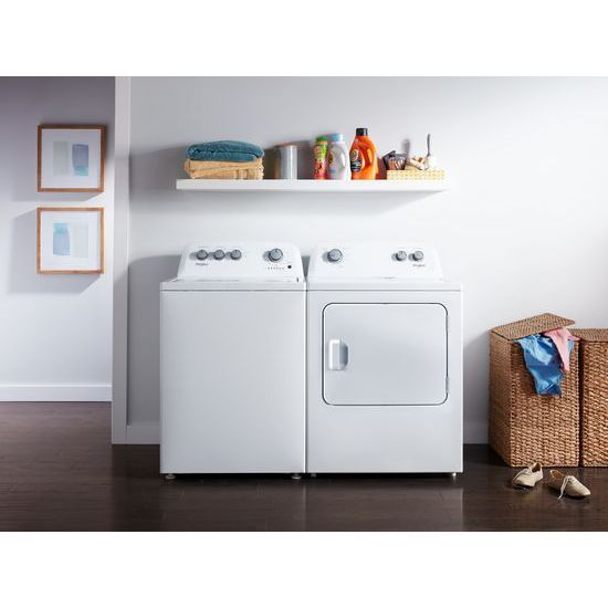 Model: WTW4850HW | Whirlpool 3.9 cu. ft. Top Load Washer with Soaking Cycles, 12 Cycles