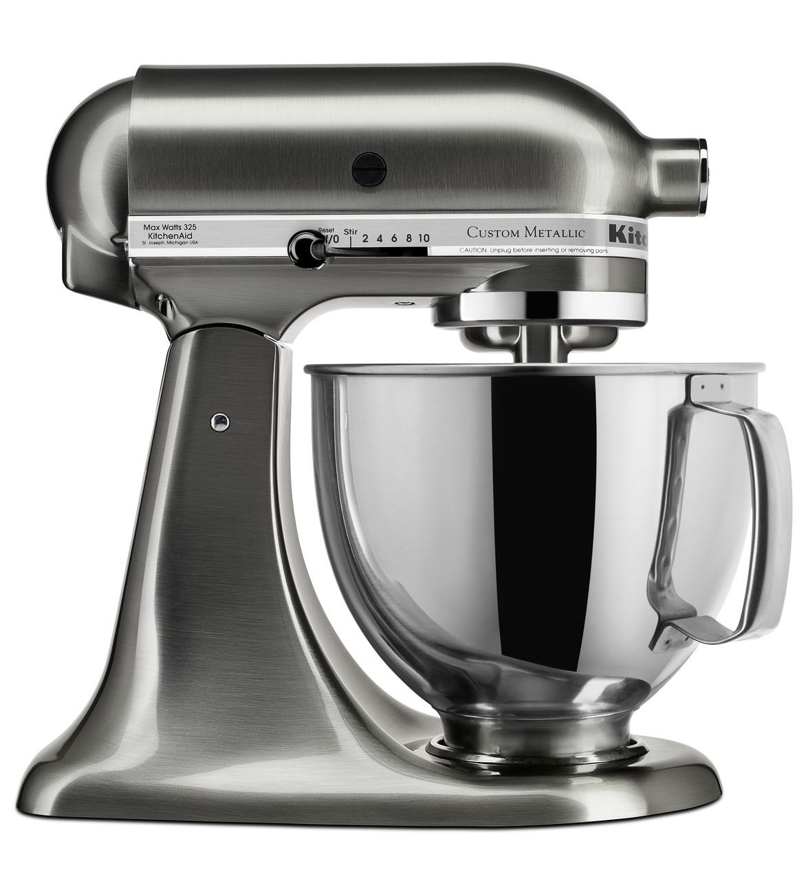 KitchenAid-Custom-Metallic-Series-5-Quart-Tilt-Head-Stand-Mixer-KSM152PS thumbnail 2