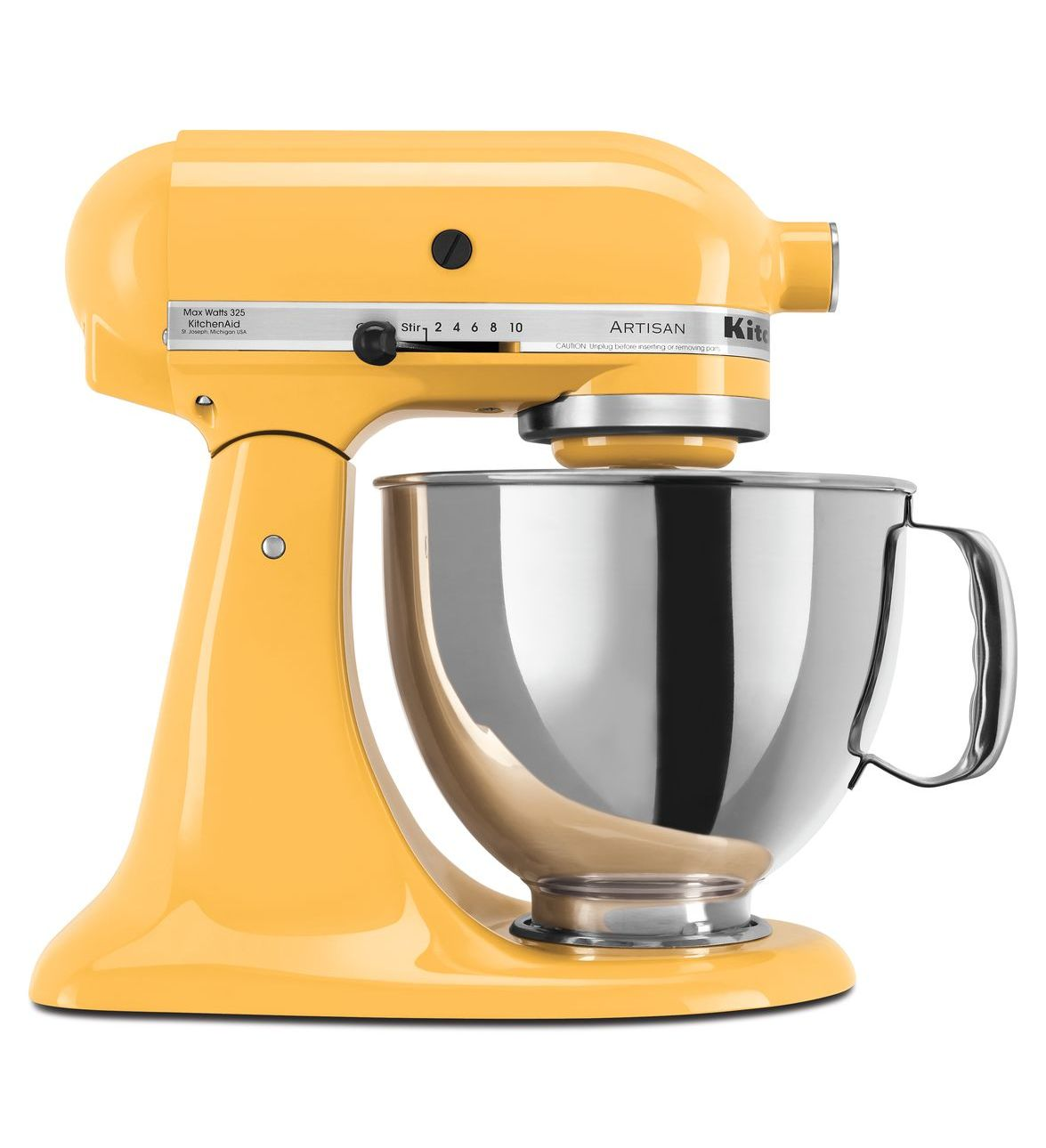 KitchenAid® Refurbished Artisan® Series 5 Quart Tilt-Head Stand Mixer, RRK150 Buttercup