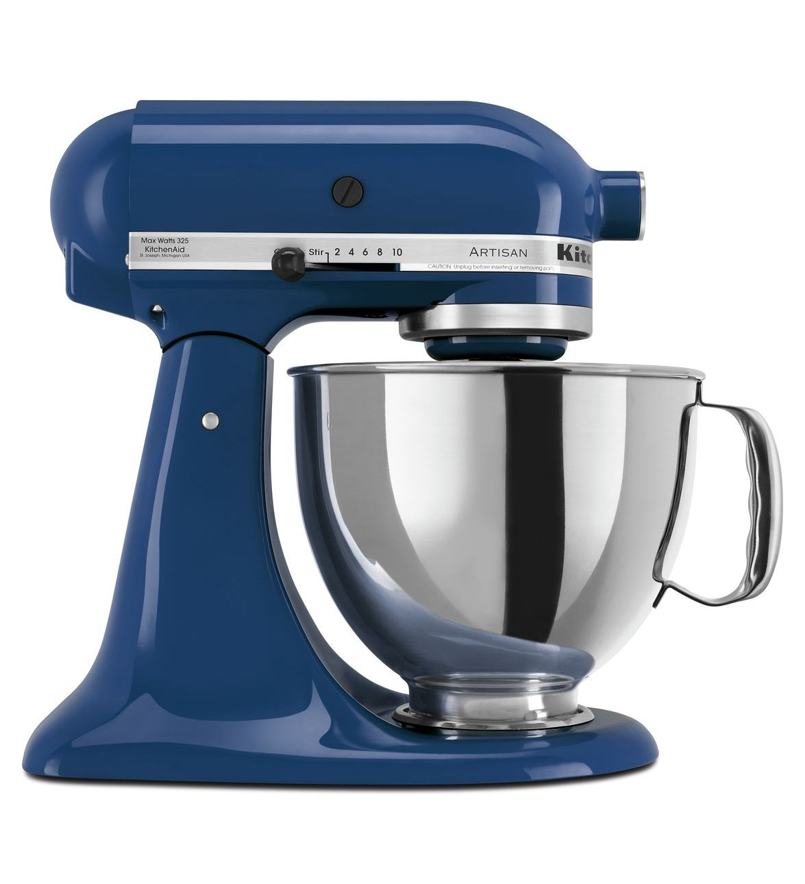 KitchenAid® Refurbished Artisan® Series 5 Quart Tilt-Head Stand Mixer, RRK150 Blue Willow