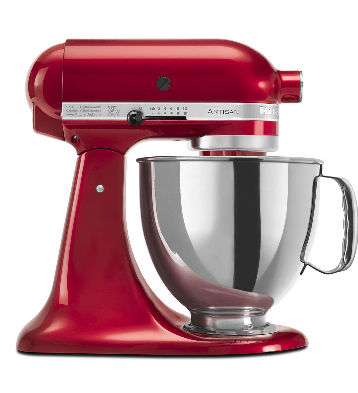 KitchenAid® Refurbished Artisan® Series 5 Quart Tilt-Head Stand Mixer, RRK150 Candy Apple Red