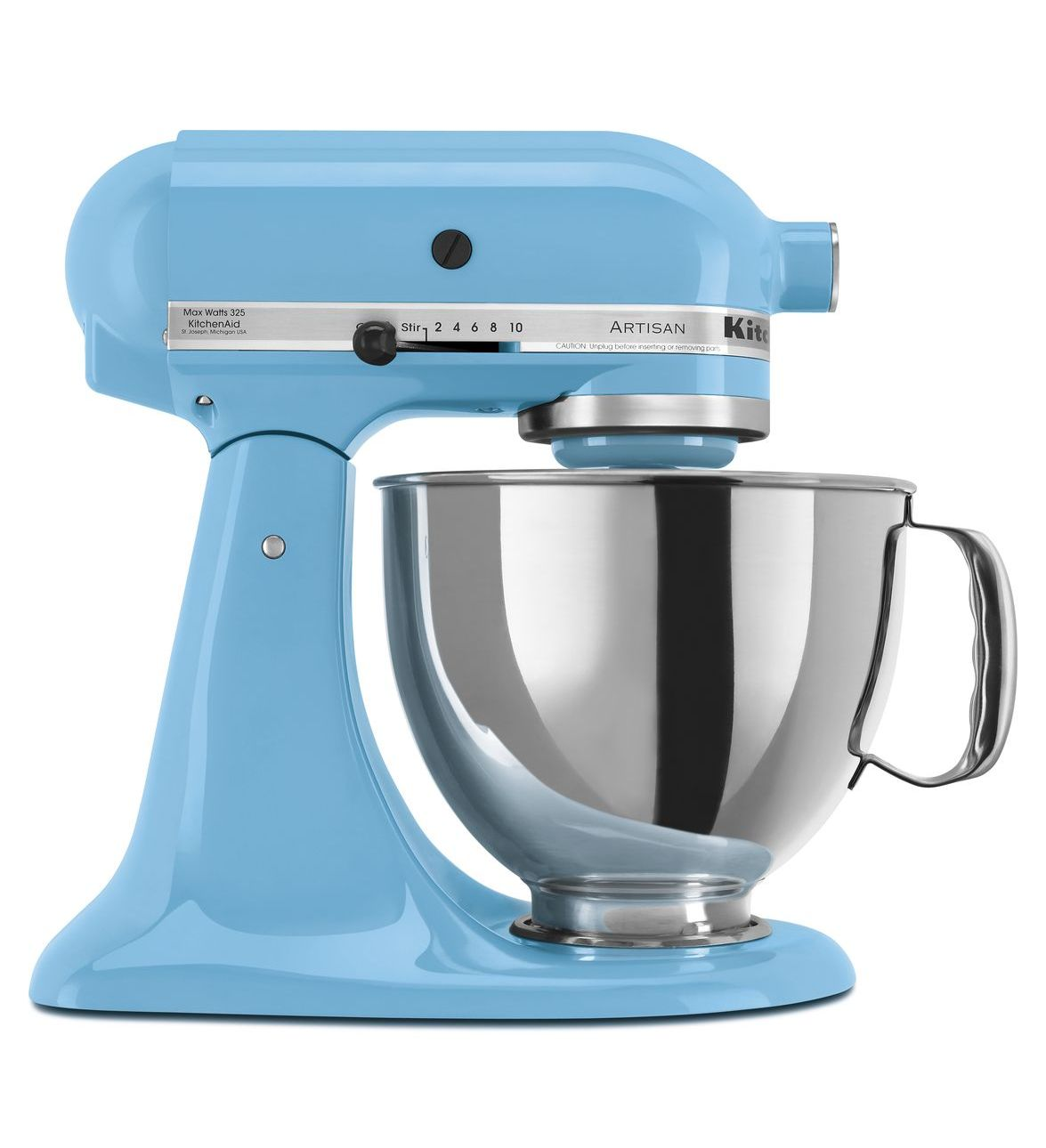 KitchenAid® Refurbished Artisan® Series 5 Quart Tilt-Head Stand Mixer, RRK150 Crystal Blue