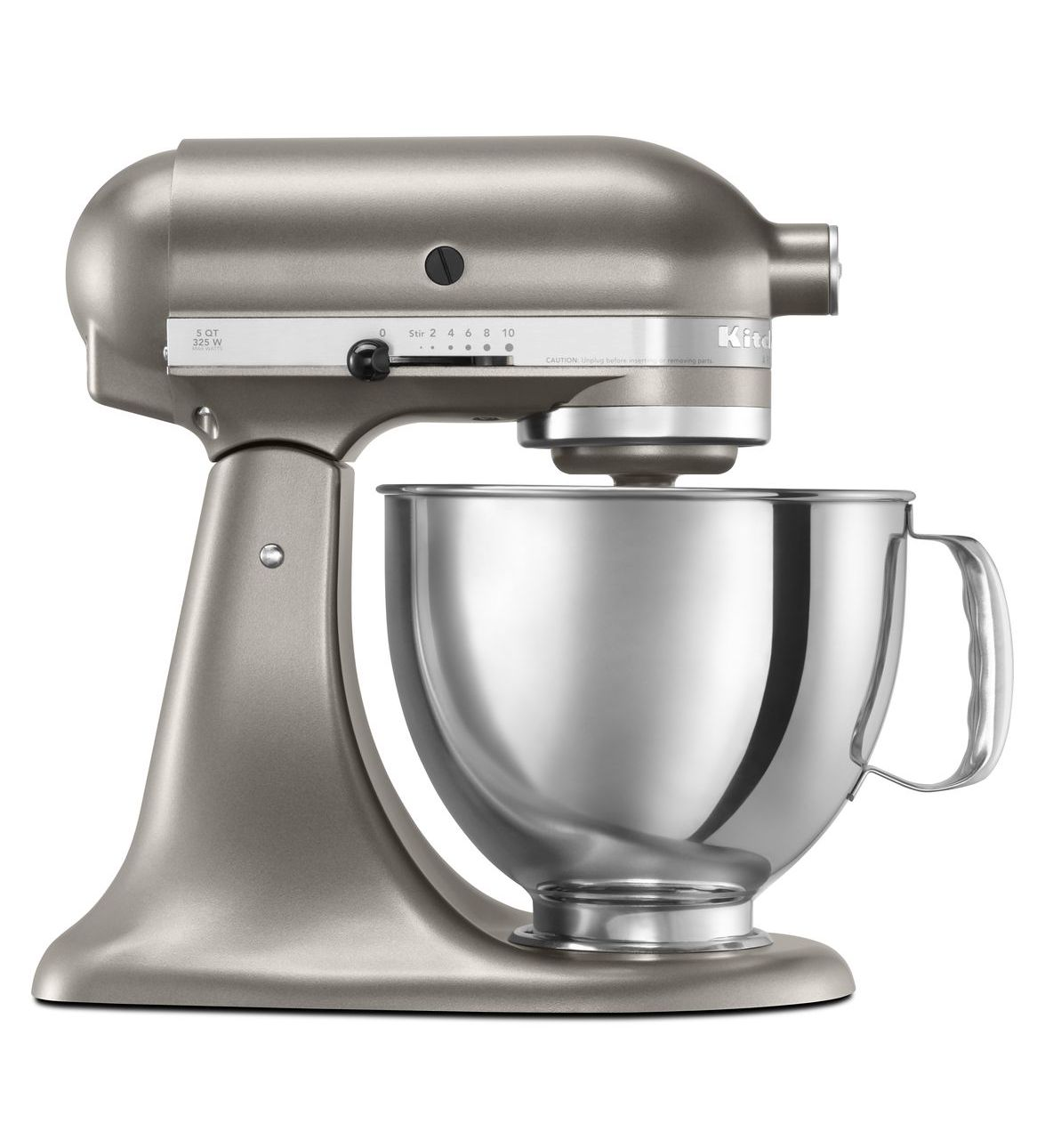 KitchenAid® Refurbished Artisan® Series 5 Quart Tilt-Head Stand Mixer, RRK150 Cocoa Silver