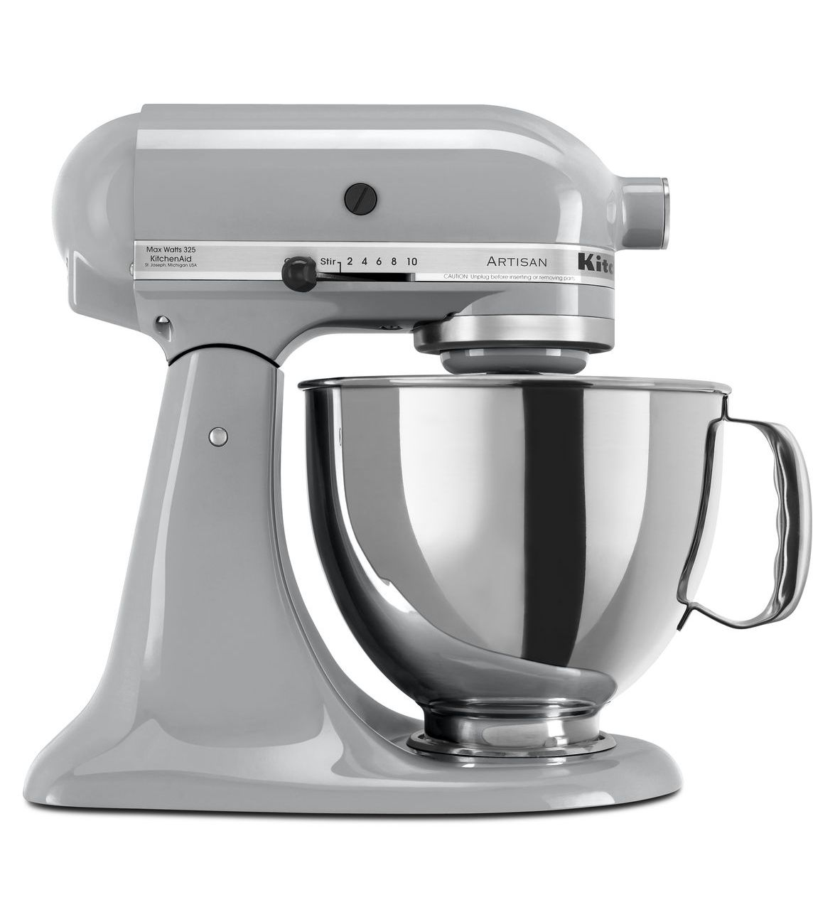 KitchenAid® Refurbished Artisan® Series 5 Quart Tilt-Head Stand Mixer, RRK150 Metallic Chrome