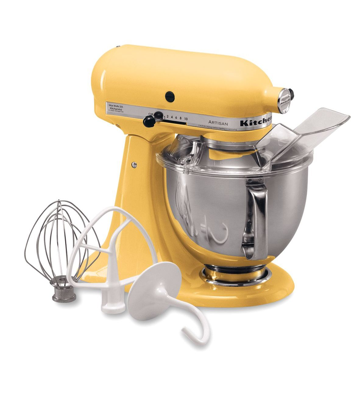 KitchenAid® Refurbished Artisan® Series 5 Quart Tilt-Head Stand Mixer, RRK150 Majestic Yellow