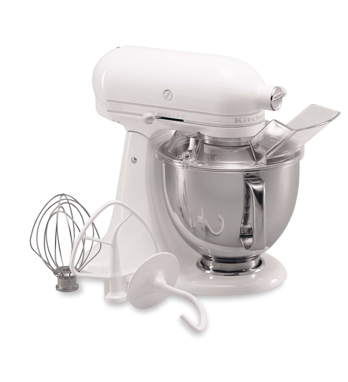 KitchenAid® Refurbished Artisan® Series 5 Quart Tilt-Head Stand Mixer, RRK150 White-on-White